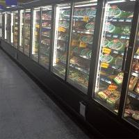 Quality 5 Layers Commercial Beverage Refrigerator Glass Door Upright Freezer For Retail for sale