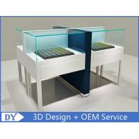China Big Size White Jewelry Display Cases With Lock / Jewellery Display Cabinets wholesale