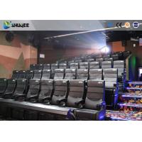 China Amusement Park 4D Movie Theater With Electric System / 4D Cinema Chairs wholesale