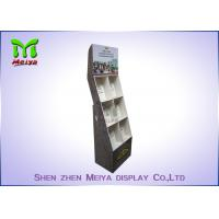 China Eye - Catching Magazines Cardboard Floor Display Stands , Cardboard Book Displays Shelves wholesale