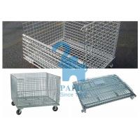 China Custom Wire Mesh Storage Boxes Wire Mesh Pallet Cages With Lage Volume wholesale
