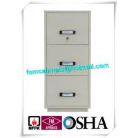 Quality Steel 3 Drawer Fireproof Locking File Cabinet For Paper Documents for sale