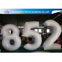 China European Standard White PVC Inflatable Advertising Number Display Figure Balloon wholesale