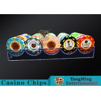 China 180g Acrylic Small Poker Chip Tray Insert Each Grid Can Placed 20 Pcs Chips wholesale