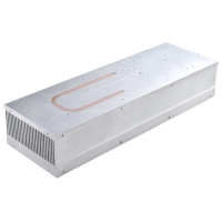 China Silver Anodised Copper Pipe Heat Sink 6063 T5 Aluminum Alloy Cold Plate wholesale