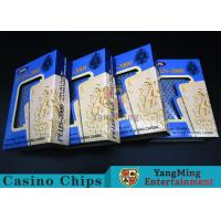 China Red / Blue Color Plastic Poker Playing Cards With High Efficiency Waterproof wholesale