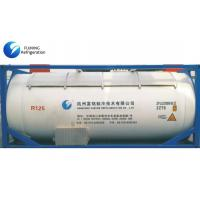 China SGS CF3CHF2 R125 AC Refrigerant Gas Bulk ISO Tank For Industrial Refrigeration wholesale