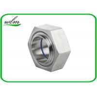 China ISO2853 Hygienic Stainless Steel Union Couplings Hexagon Nut Type 1 Inch-4 Inch Size wholesale