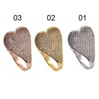 China Wholesale Cheap 925 Sterling Silver Jewellery Silver Ring with CZ & Heart Shape For Anniversary, Gift wholesale