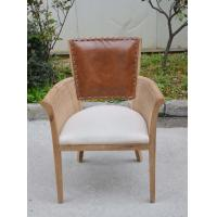 China Home Rattan Leather Dining Chair Hotel Banquet Chair With Leather Back wholesale