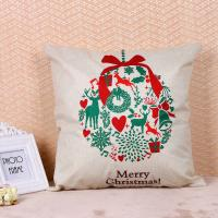 Printed Pillow Cushion Covers , Christmas Series Decorative Sofa Pillows