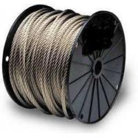 Marine Grade Stainless Steel Wire Rope IWRC Long Durability For Luffing Ropes