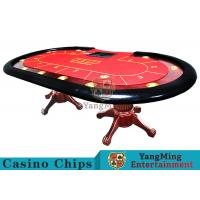 China Tiger Legs Poker Game Table With European Style Groove Design In Mesa Runway wholesale