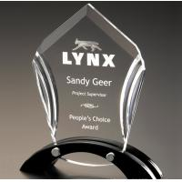 Quality LOGO Laser Acrylic Award Trophy Transparent With Good Light Transmission for sale