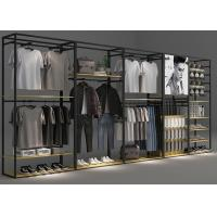 China Modern Functional Retail Clothing Racks Optional Matte Black Coating Color wholesale