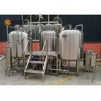China Plc Control Craft Beer Brewing Equipment , Commercial Beer Distillery Equipment wholesale