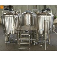 Quality 10HL Brewhouse Equipment Electricity / Steam / Gas Heating For Beer Brewing for sale
