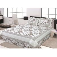 China Floral Design Home Bed Quilts Soft Silky With 100 Percent Polyester Material wholesale