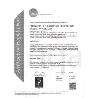 Shenzhen KD LIGHTING Co.,Ltd Certifications