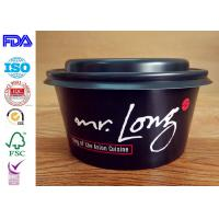 China High grade quality disposable take away kraft paper salad bowl match with lids wholesale