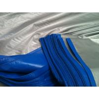 China 14*14mesh 200gsm blue/silver  tarpaulin roof covering plastic wholesale