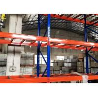 China Narrow Aisle Warehouse Pallet Racking Of Blue Colour Columns With Customized Sizes wholesale