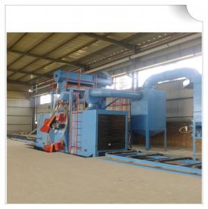 China H beam shot blasting machine / wheel blasting machine for cleaning structural steel wholesale