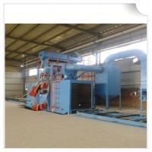 China Steel structure H beam shot blasting machine / Roller Conveyor Sand Blasting Machine wholesale