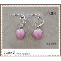 China Pink Fashion 925 Sterling Silver Gemstone Earrings with Opal W-AS998 wholesale
