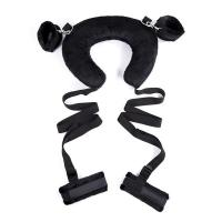 China Plush Neck Harness Bondage Starter Kit with Handcuffs and Ankle Cuffs Made of Ribbon wholesale