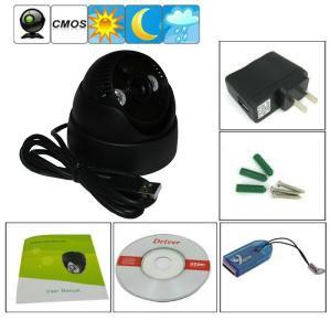 "China K902 Double Lamp Array IR Night Vision Mini Dome 1/4"" CMOS CCTV Surveillance TF DVR Camera wholesale"