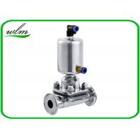 China Fast Assembly Sanitary Diaphragm Valve , Straight Through SS Diaphragm Type Valve wholesale