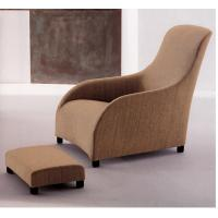 Buy cheap Comfortable Khaki Fabric Lounge Chair And Ottoman Wingback For Hotel from wholesalers