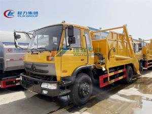 China China Light Waste Collection Dongfeng 4X2 Small Rubish Compactor 8 10 12 15M3 Swing Arm Skip Loader Lifter Garbage Truck wholesale
