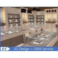 China Fashion Jewelry Store Interior Showroom Display Cases MDF + Tempered  Glass wholesale