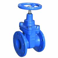 China Cast Iron Blue Pneumatic Gate Valve Handwheel DN50 - DN600 For Pneumatic Actuator wholesale