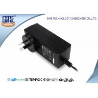 China Black 2 Prong 36W Switching Power Adaptor With 1.5m Cable , 84.78% Efficiency wholesale