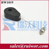 China RW1019 Anti Lost Retractable Recoiler with round metal plate for electronic products display wholesale