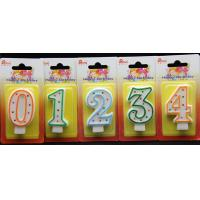 China Best-selling Number Candle unique Colorful polka dot number birthday candle With Multi-color edge wholesale