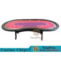 China 10 Seats Casino Poker Table With environmentally friendly PU leather armrest wholesale