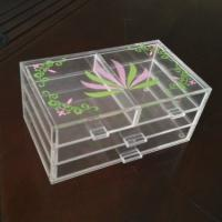China Acrylic 3 tiers Cosmetic Display 4 drawers Light weight with silk printing wholesale