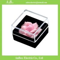 China 16*16*1cm Poly Styrene Transparent Plastic Box With Cover wholesale