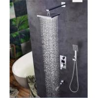 China Digital Display Shower Head And Faucet , 8.5*10.5cm Size Shower Head And Handle Set wholesale