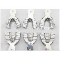 Quality 6 Pcs Dental Full Stainless Steel Impression Tray Set Autoclavable for sale