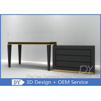 China Morden Black Store Jewelry Display Cases Storage With Door And Wooden Shelf Inside wholesale