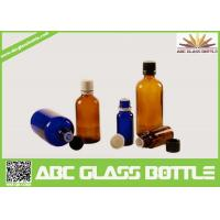 China Wholesale 1/2oz 1oz 2oz 4oz 8oz  Amber Cobalt Blue Boston Round Glass  Screw Bottle wholesale