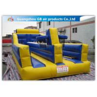 China Exciting Child Bungee Run Inflatable Sports Games With Basketball Hoop wholesale