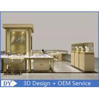 Quality OEM Custom Luxury Glass Jewelry Showcase Counter With Led for sale