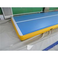 China Sturdy Inflatable Air Tumble Track  In Pool Air Floor Mat ROHS / SGS Approved wholesale