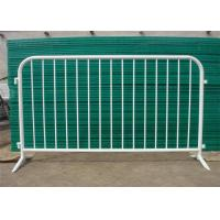 Buy cheap secure construction 1.1*2.2m galvanized pvc coated crowd control barrier for from wholesalers